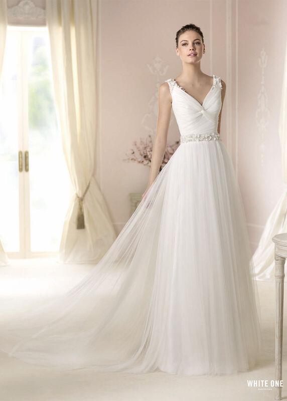 Свадебное платье напрокат White One (Pronovias) Платье свадебное «Dalina» - фото 1