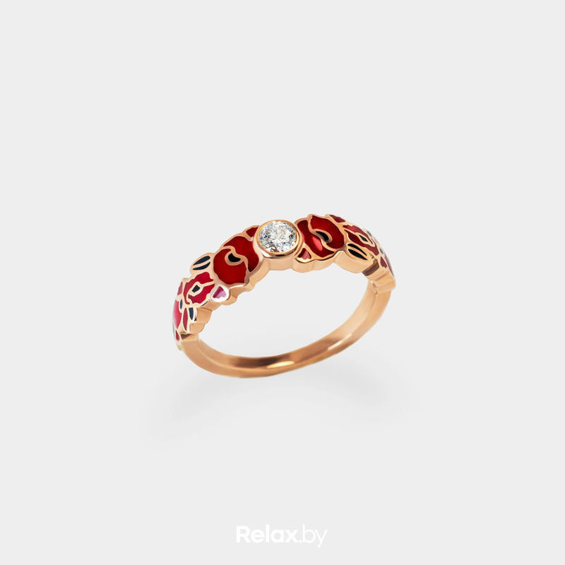 Ювелирный салон Белорусские Бриллианты Кольцо из золота со вставкой бриллиант синт. 21010048 - фото 1