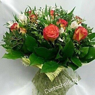 Магазин цветов Цветочник Букет из альстромерий и роз - фото 1