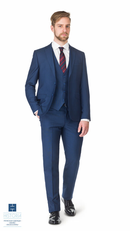 Костюм мужской HISTORIA костюм мужской, синий, тройка - фото 1