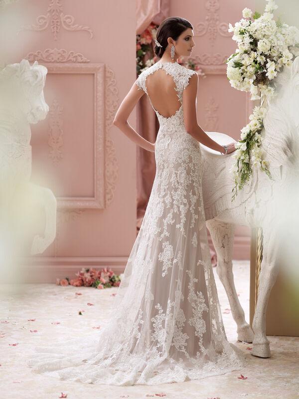 Свадебное платье напрокат David Tutera Платье свадебное 115229 Lourdes - фото 2