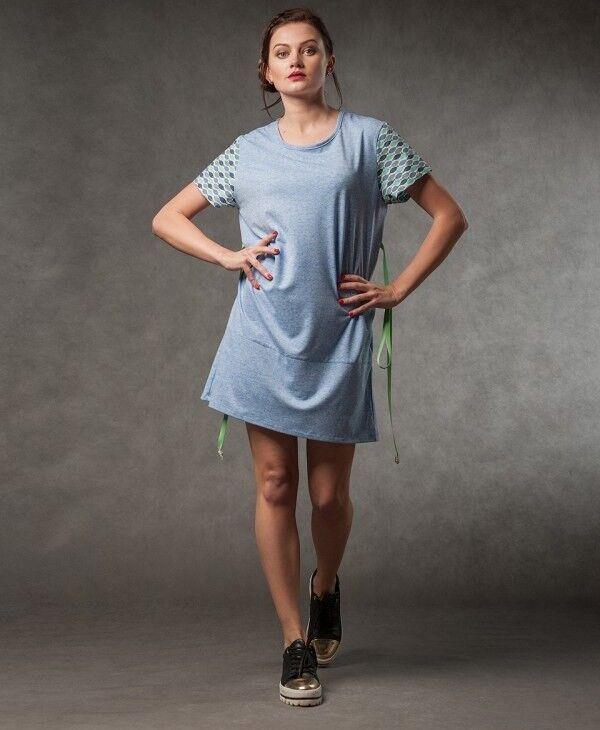Платье женское MISUTERI Платье Nekutai Blue SS0126 - фото 1