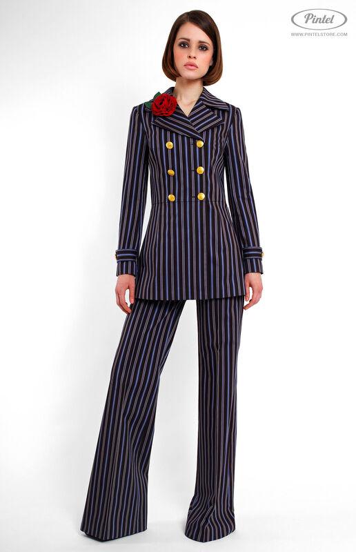 Костюм женский Pintel™ Двубортный брючный костюм Geeah - фото 2