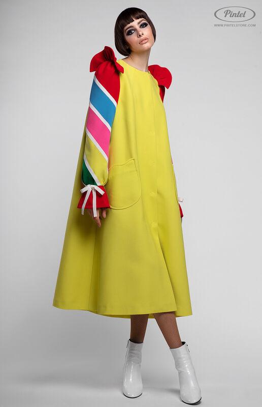 Платье женское Pintel™ Платье-пальто А-силуэта Tinka - фото 2