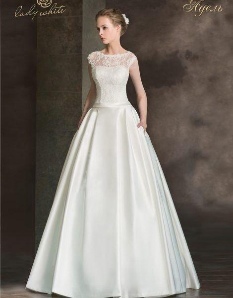 Свадебное платье напрокат Lady White Свадебное платье «Адель» - фото 1