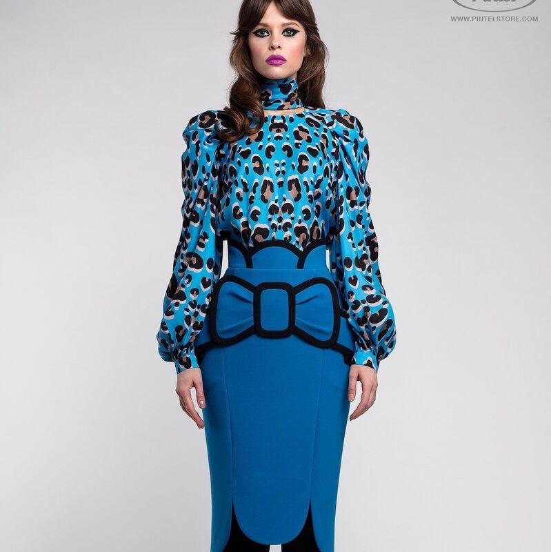 Костюм женский Pintel™ Комплект из блузы и юбки Brianna - фото 1