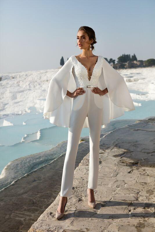 Свадебное платье напрокат ALIZA Свадебный комбинезон «Nicole» - фото 1