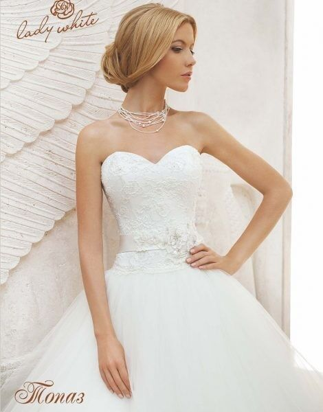 Свадебное платье напрокат Lady White Платье свадебное «Топаз» - фото 2