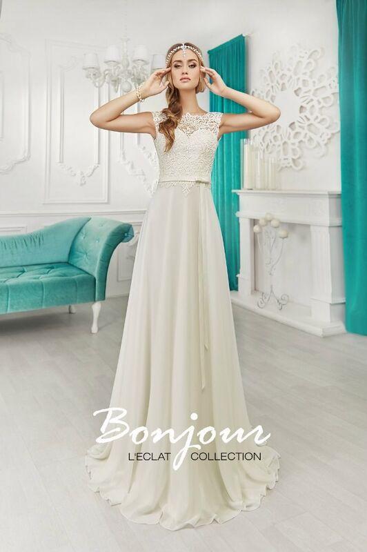 Свадебное платье напрокат Bonjour Платье свадебное «Fiona» из коллекции L'ECLAT 2016 - фото 1