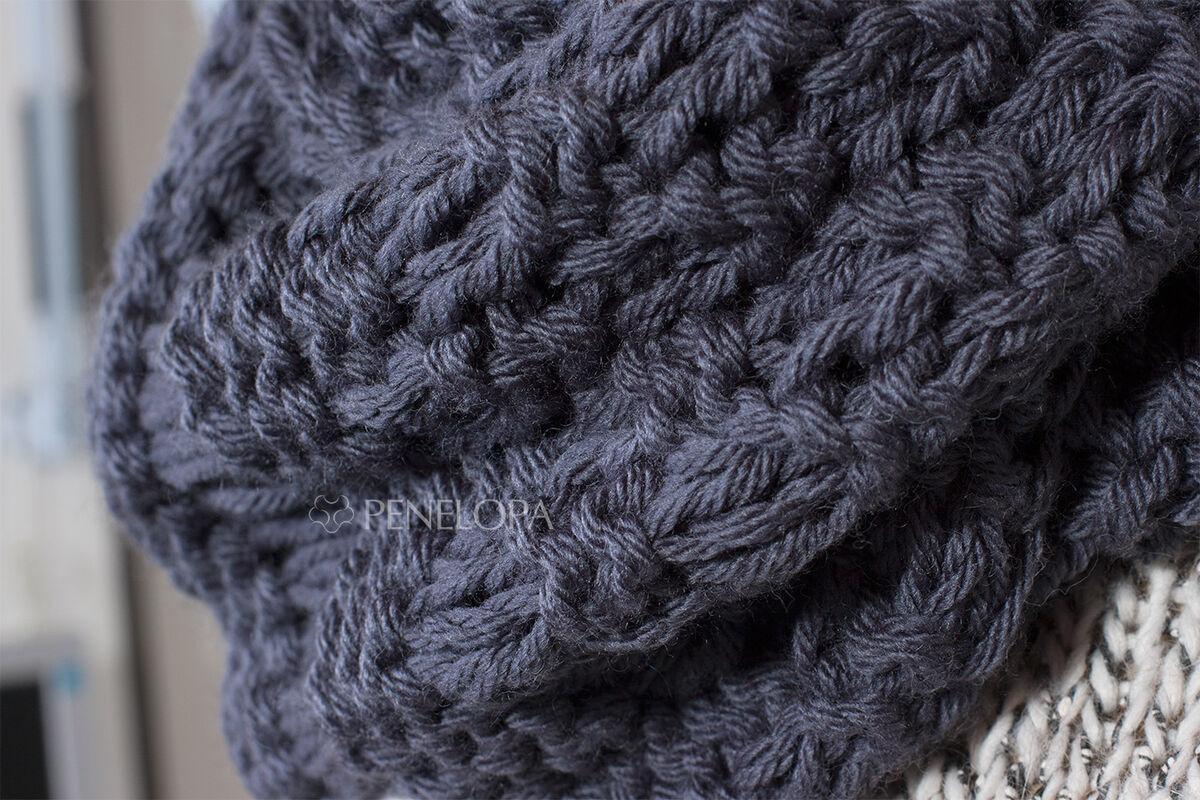 Шарф и платок PENELOPA Шарф-снуд «Cерый грифель» M101 - фото 3