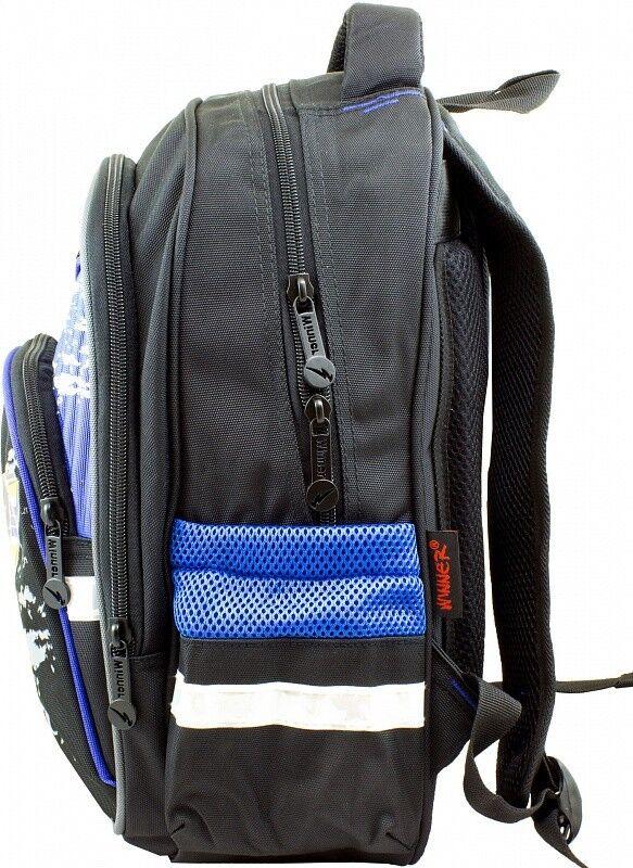 Магазин сумок Winner Рюкзак школьный черно-синий 905 - фото 2