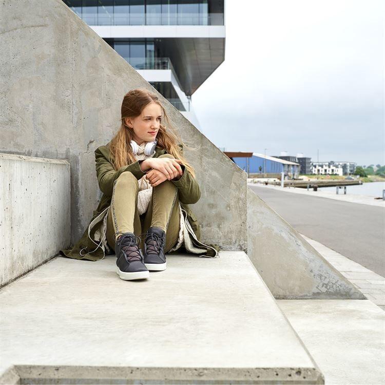 Обувь детская ECCO Кеды высокие S8 781103/01001 - фото 9