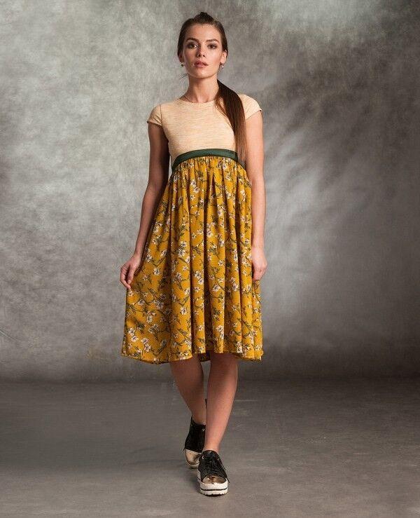 Платье женское MISUTERI Платье Makvin Yellow SS0161 - фото 1