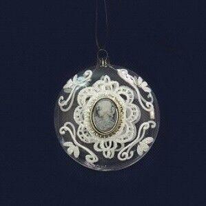 Елка и украшение Eurotrading Шар стеклянный с брошью, 8 см - фото 1