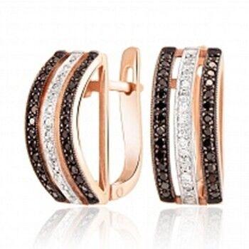 Ювелирный салон Jeweller Karat Серьги золотые с бриллиантами арт. 1222350ч - фото 1