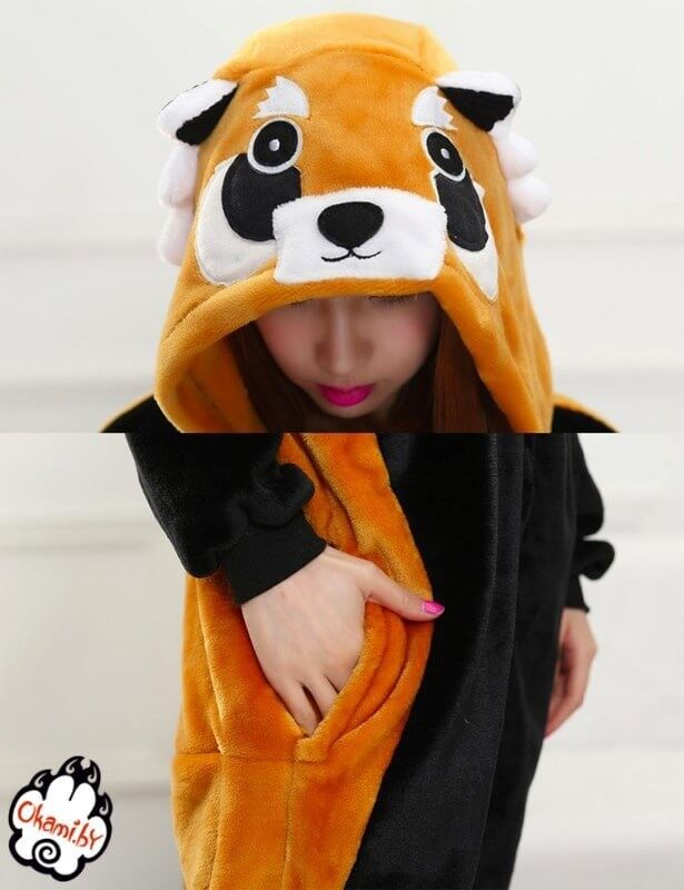 Подарок Taicang Soft Пижама кигуруми «Красная Панда (Енот)» - фото 4