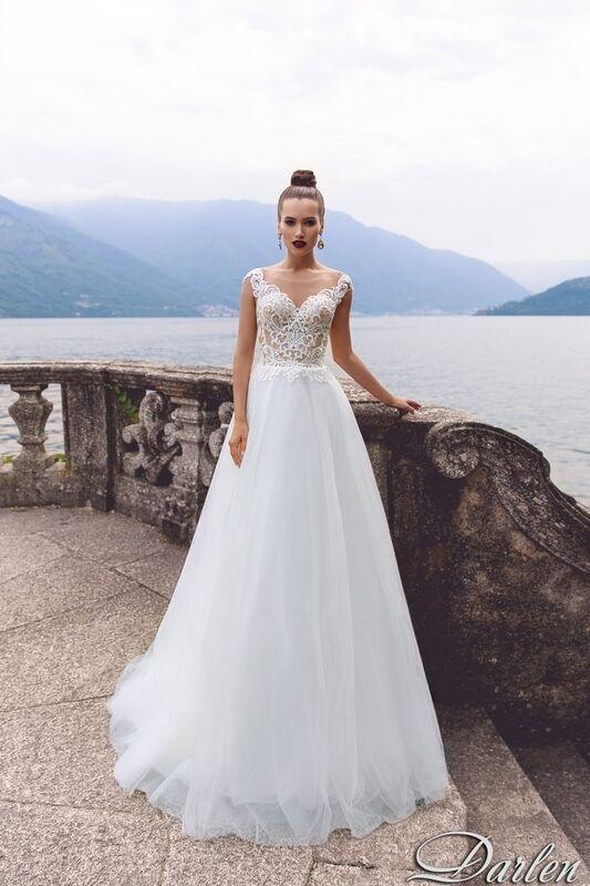 Свадебный салон Bonjour Galerie Свадебное платье Darlen из коллекции Royal Luxury - фото 1