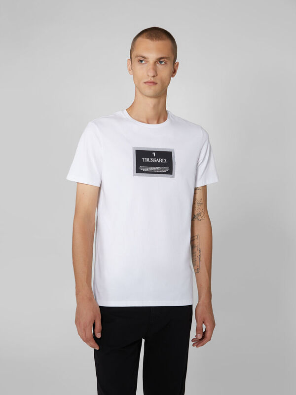 Кофта, рубашка, футболка мужская Trussardi Футболка мужская 52T00380-1T003076 - фото 1