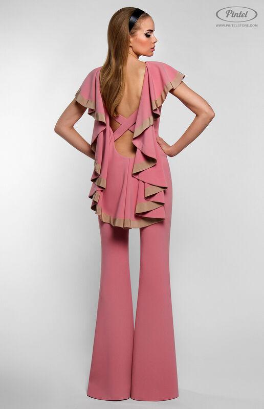 Брюки женские Pintel™ Приталенный розовый макси-комбинезон Linnea - фото 5