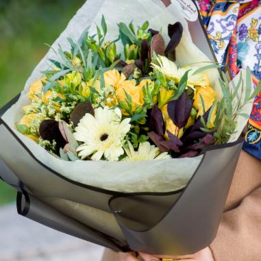 """Магазин цветов Долина цветов Букет """"Яркая осень"""" - фото 1"""