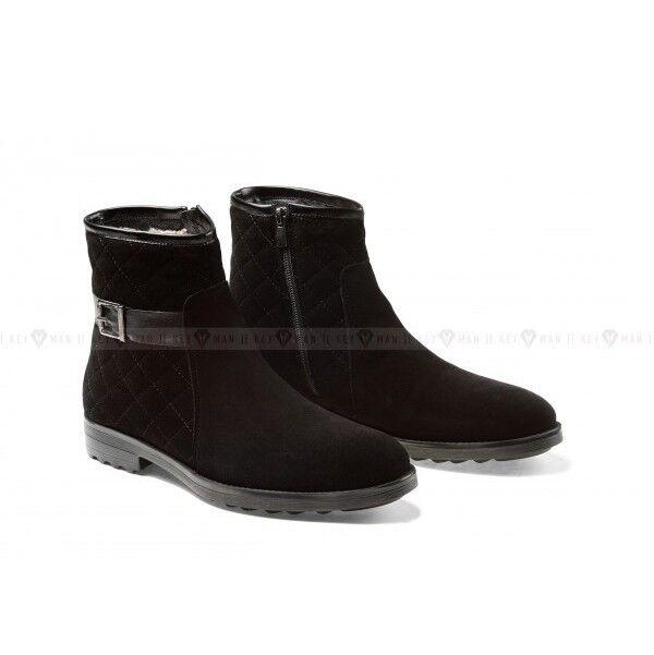 Обувь мужская Keyman Ботинки мужские черные замшевые со стеганым верхом - фото 1