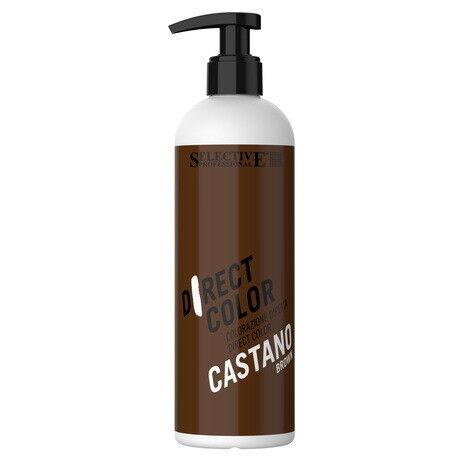 Уход за волосами Selective Ухаживающая краска прямого действия Direct Color Castano-Brown - фото 1