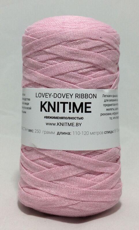 Товар для рукоделия Knit!Me Шнурочная пряжа Lovey-Dovey Ribbon - Розовый кварц (LRD05) - фото 1