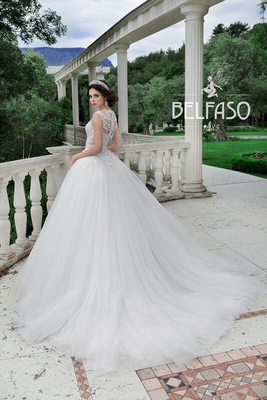 Свадебное платье напрокат Belfaso Платье свадебное Evanjelin - фото 4