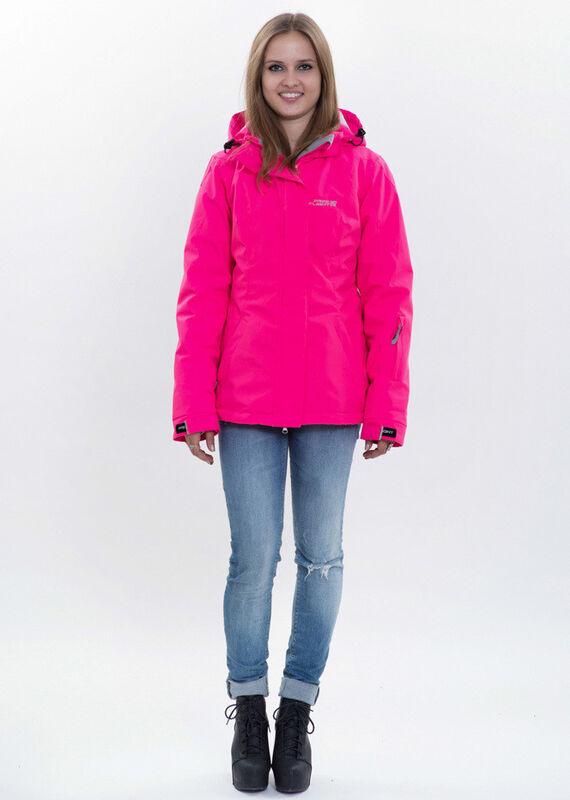 Спортивная одежда Free Flight Женская горнолыжная мембранная куртка розовая - фото 1