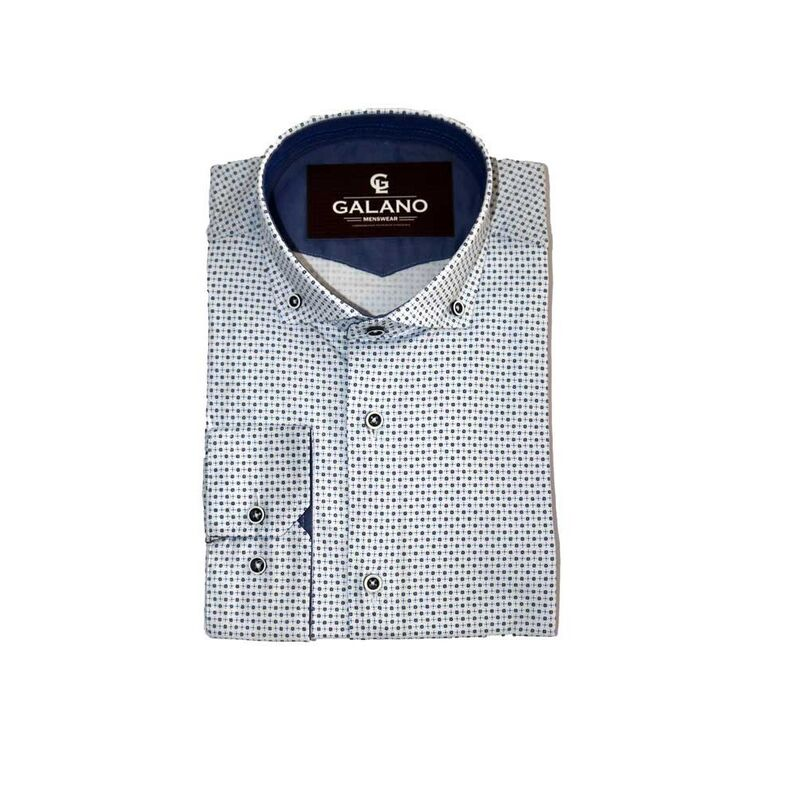 Кофта, рубашка, футболка мужская Galano Рубашка Slim fit - фото 1