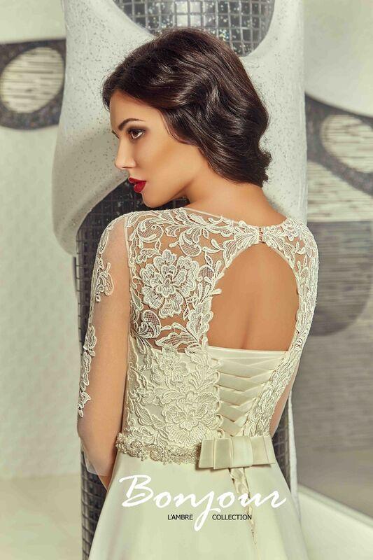 Свадебное платье напрокат Bonjour Платье свадебное «Viktoria» из коллекции L'ECLAT 2016 - фото 4