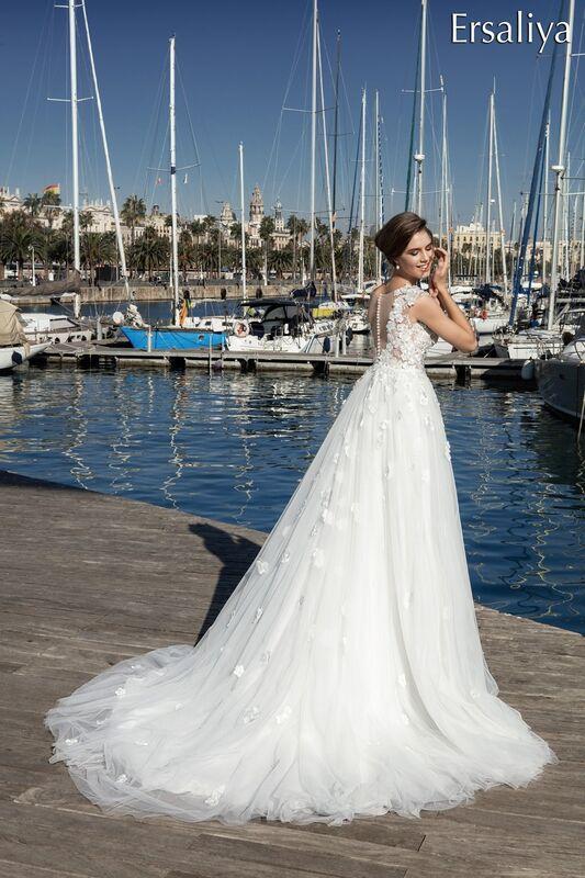 Свадебное платье напрокат Bonjour Платье свадебное «Ersaliya» из коллекции LA POESIE 2017 - фото 1