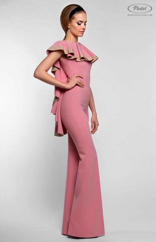 Брюки женские Pintel™ Приталенный розовый макси-комбинезон Linnea - фото 3