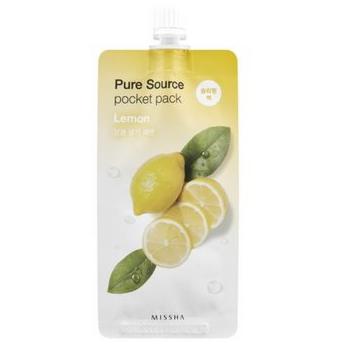 Уход за лицом Missha Маска для лица Pure Source с экстрактом лимона - фото 1