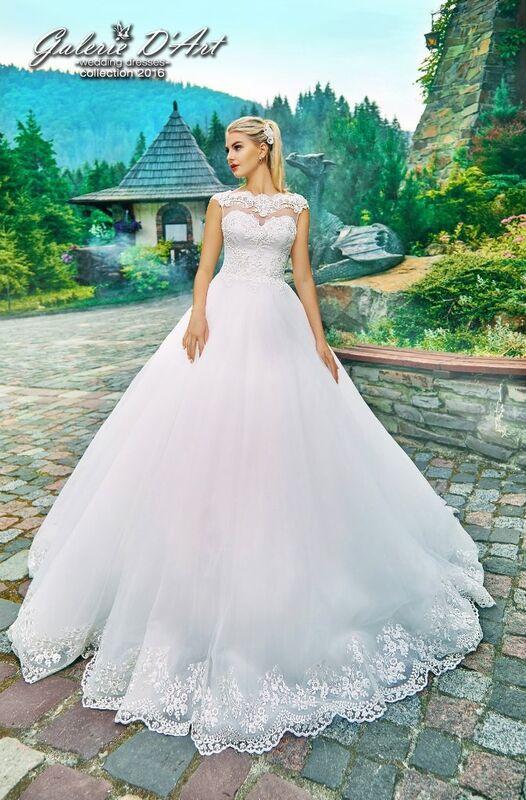Свадебное платье напрокат Galerie d'Art Платье свадебное «Nika» из коллекции BESTSELLERS - фото 1
