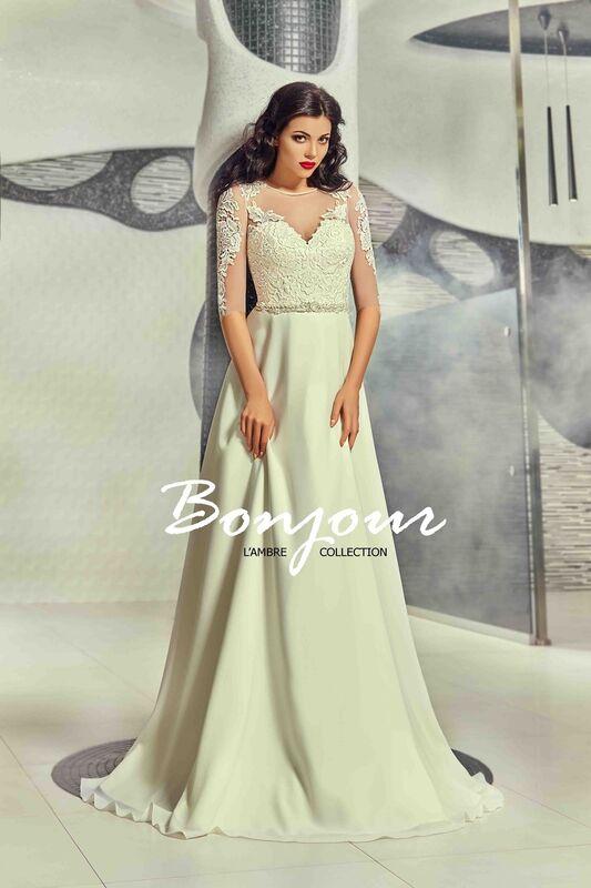 Свадебное платье напрокат Bonjour Платье свадебное «Viktoria» из коллекции L'ECLAT 2016 - фото 1