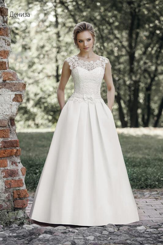 Свадебное платье напрокат Vintage Платье свадебное «Дениза» - фото 1