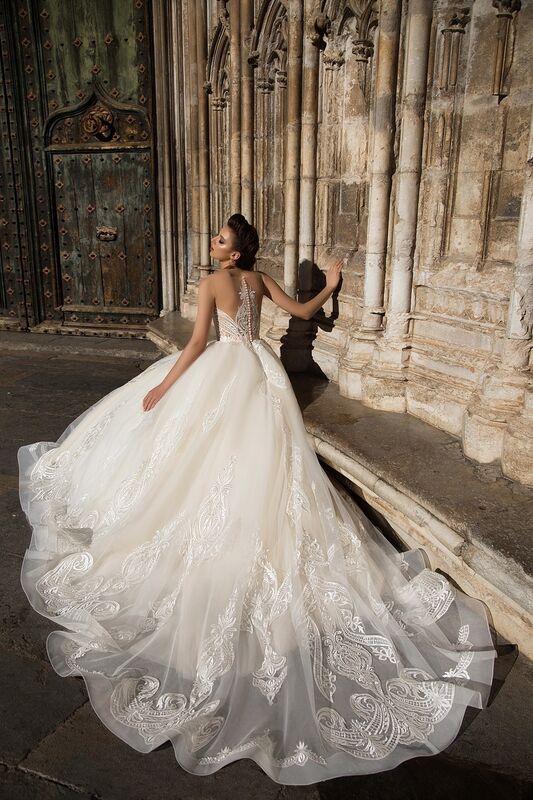 Свадебное платье напрокат Bonjour Платье свадебное «Calypso» из коллекции LA SENSUALITE 2017 - фото 3