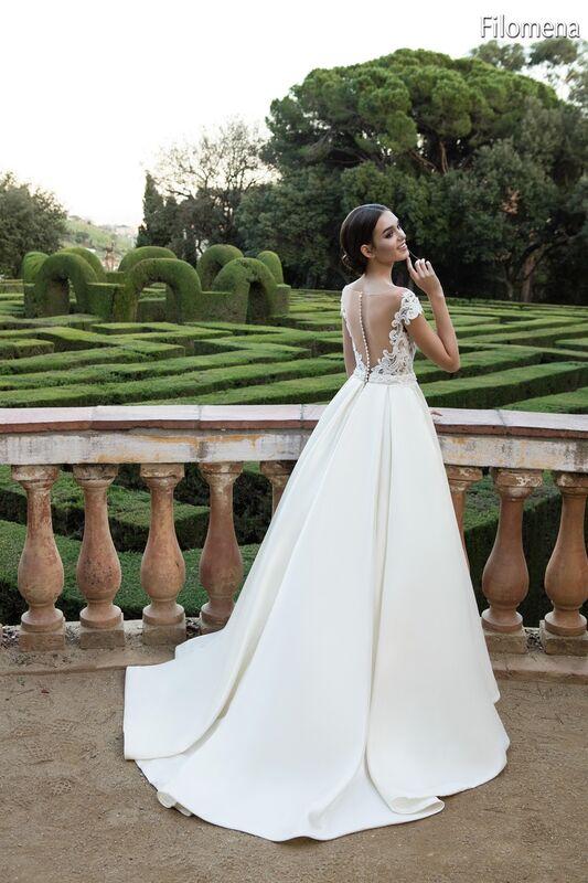 Свадебное платье напрокат Bonjour Платье свадебное «Filomena» из коллекции LA POESIE 2017 - фото 5