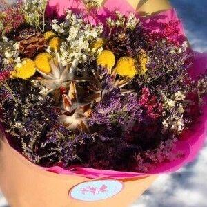 Магазин цветов Прекрасная садовница Букет с сухоцветами - фото 1