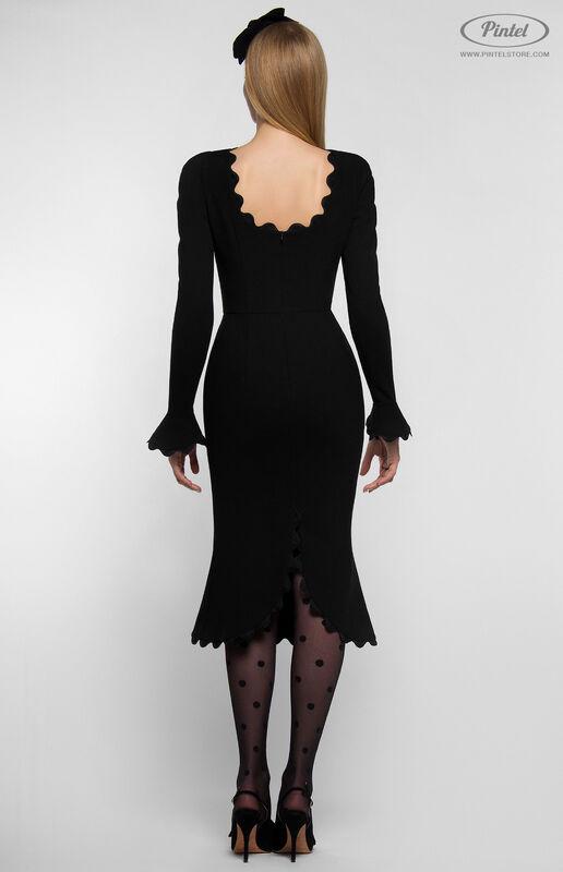 Платье женское Pintel™ Чёрное приталенное платье-футляр Janne - фото 3