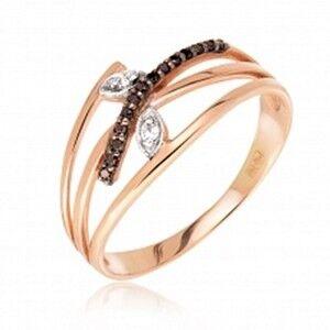 Ювелирный салон Jeweller Karat Кольцо золотое с бриллиантами арт. 1211697/1ч - фото 1