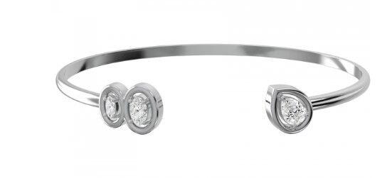 Ювелирный салон ZORKA Браслет жесткий из серебра 0640025 - фото 1