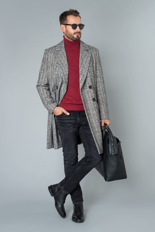 Верхняя одежда мужская Etelier Пальто мужское демисезонное 1М-9423-1 - фото 1
