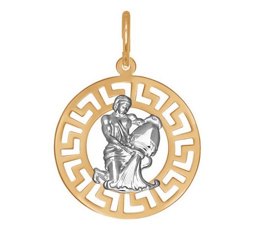 Ювелирный салон Sokolov Подвеска «Знак зодиака Водолей» из золота 031304 - фото 1