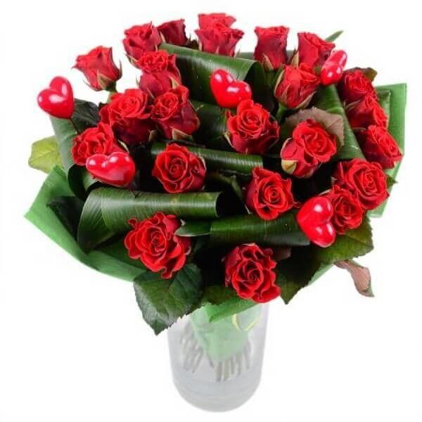 Магазин цветов Букетная Букет «Пламенное сердце» - фото 1