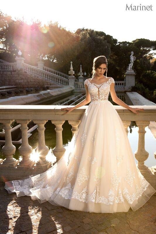 Свадебный салон Bonjour Galerie Свадебное платье «Marinet» из коллекции LA POESIE - фото 1