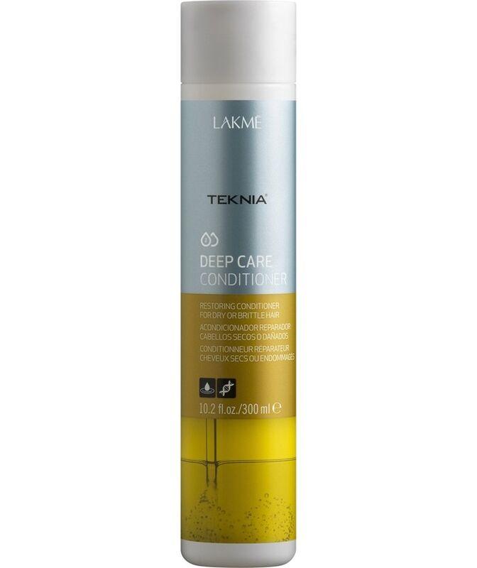 Уход за волосами Lakme Восстанавливающий кондиционер для ломких и поврежденных волос Teknia Deep Care Conditioner 300 мл - фото 1