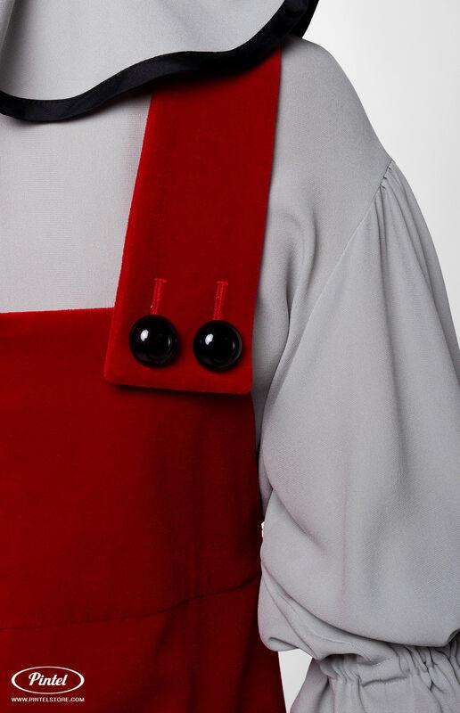 Костюм женский Pintel™ Костюм из блузы и бархатного сарафана Henriksuü - фото 5