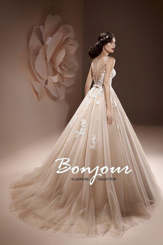 Свадебное платье напрокат Bonjour Платье свадебное «Jennifer» из коллекции ALLEGRESSE 2017 - фото 3
